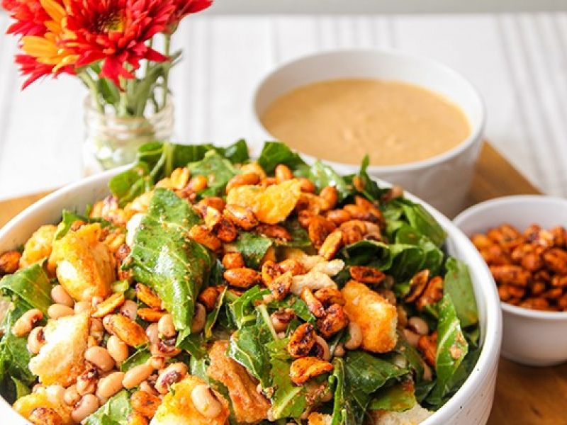 Peanut Collard Salad